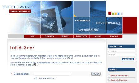 Backlink Check von site-art