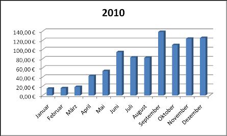 Einnahmen Dezember 2010