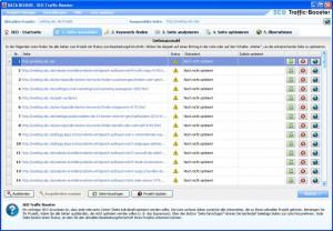 SEO Traffic Booster - Seite auswählen
