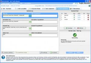 SEO Traffic Booster - Seite optimieren