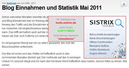 Klickpreisdetektor zur AdSense Optimierung