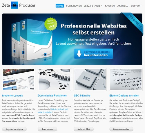 Website erstellen mit dem Zeta-Producer