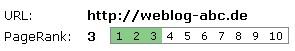 Website Check: Weblog-ABC Google Pagerank