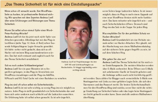 Sicherheitstipps: Interview webmaking